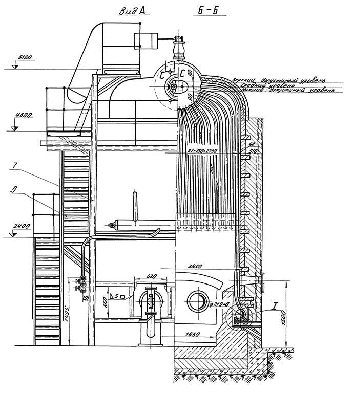 Схема конвективного пучка котла фото 316