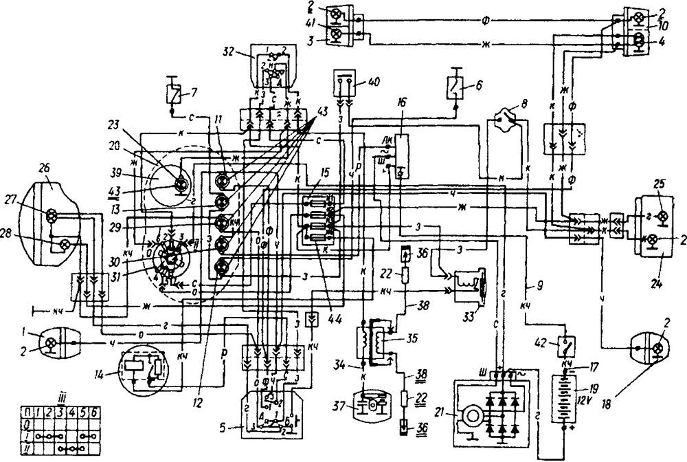 Схема подключения замка зажигания ваз 21213 цвета