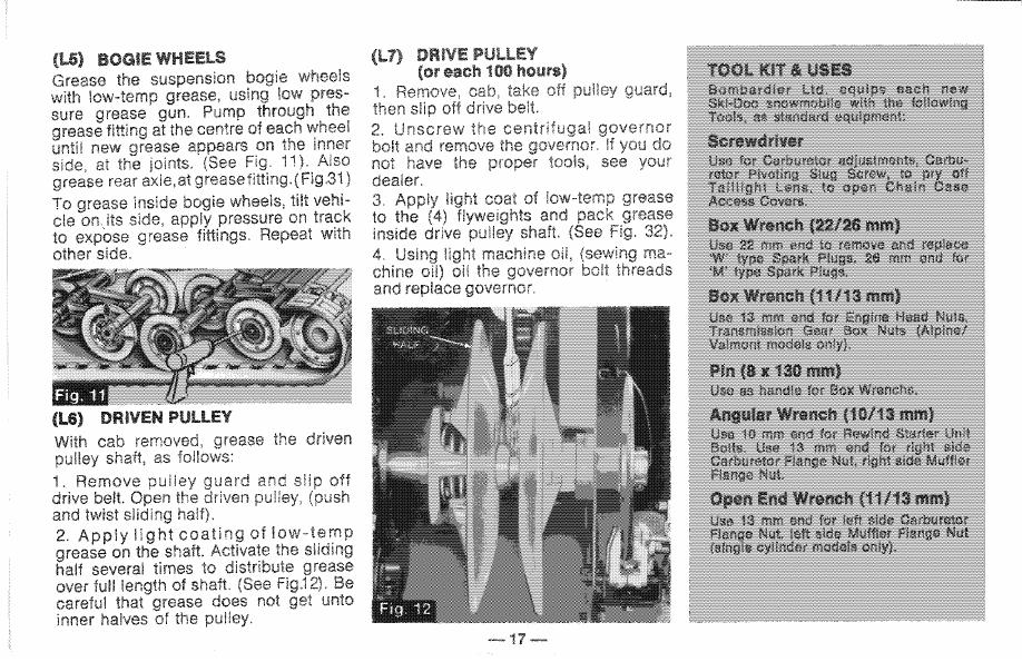 Snowmobile Ski Doo Alpine, Valmont (1971 year)  Manual - part 6