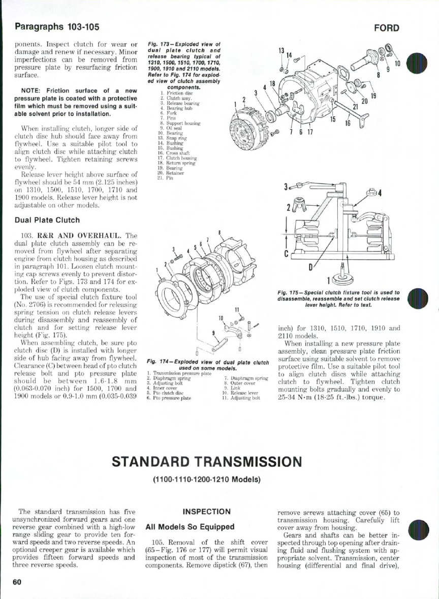 Ford Tractor  OPERATOR'S MANUAL - part 8