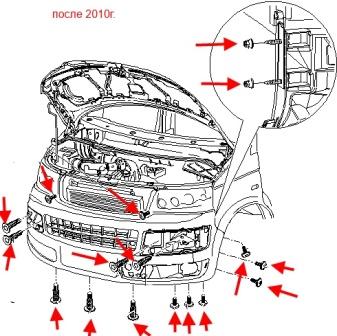 Снять передний бампер фольксваген транспортер т5 размеры кузова фольксваген транспортер т5