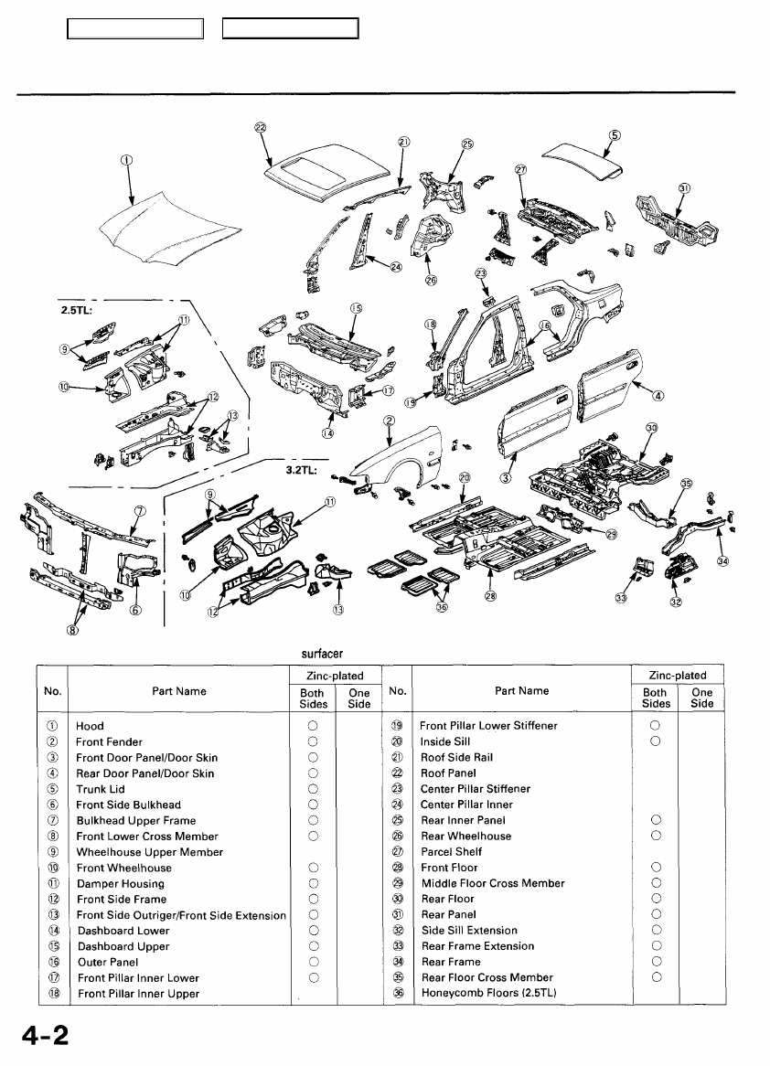 Acura TL (1995-1998) repair. Manual - part 5 on