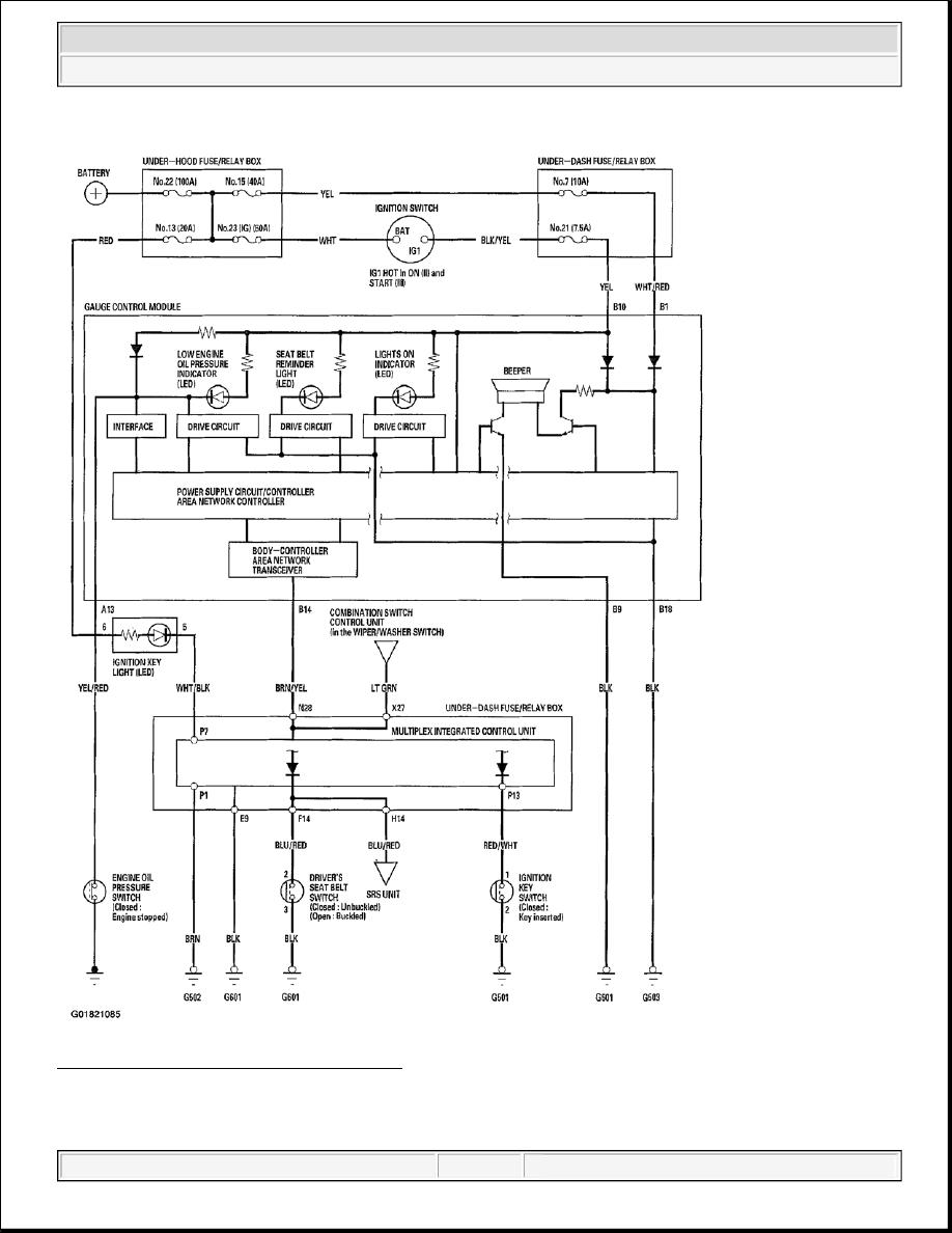 Acura TSX / Honda Accord CL. Manual - part 53 | Acura Multiplex Control Unit Wiring Diagram |  | Zinref.ru