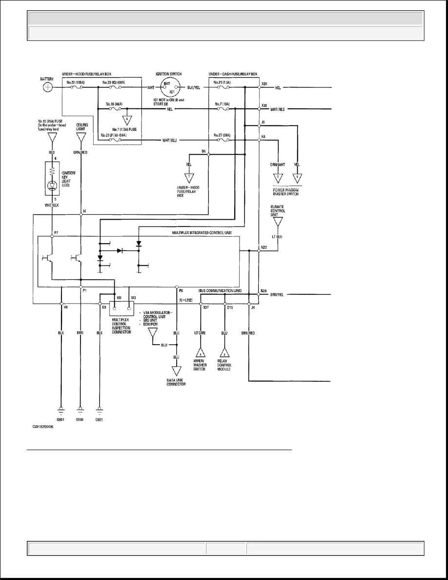 Acura Tsx Honda Accord Cl Manual Part 63 1 Wiring Diagram 38 Multiplex Integrated Control System Of 2