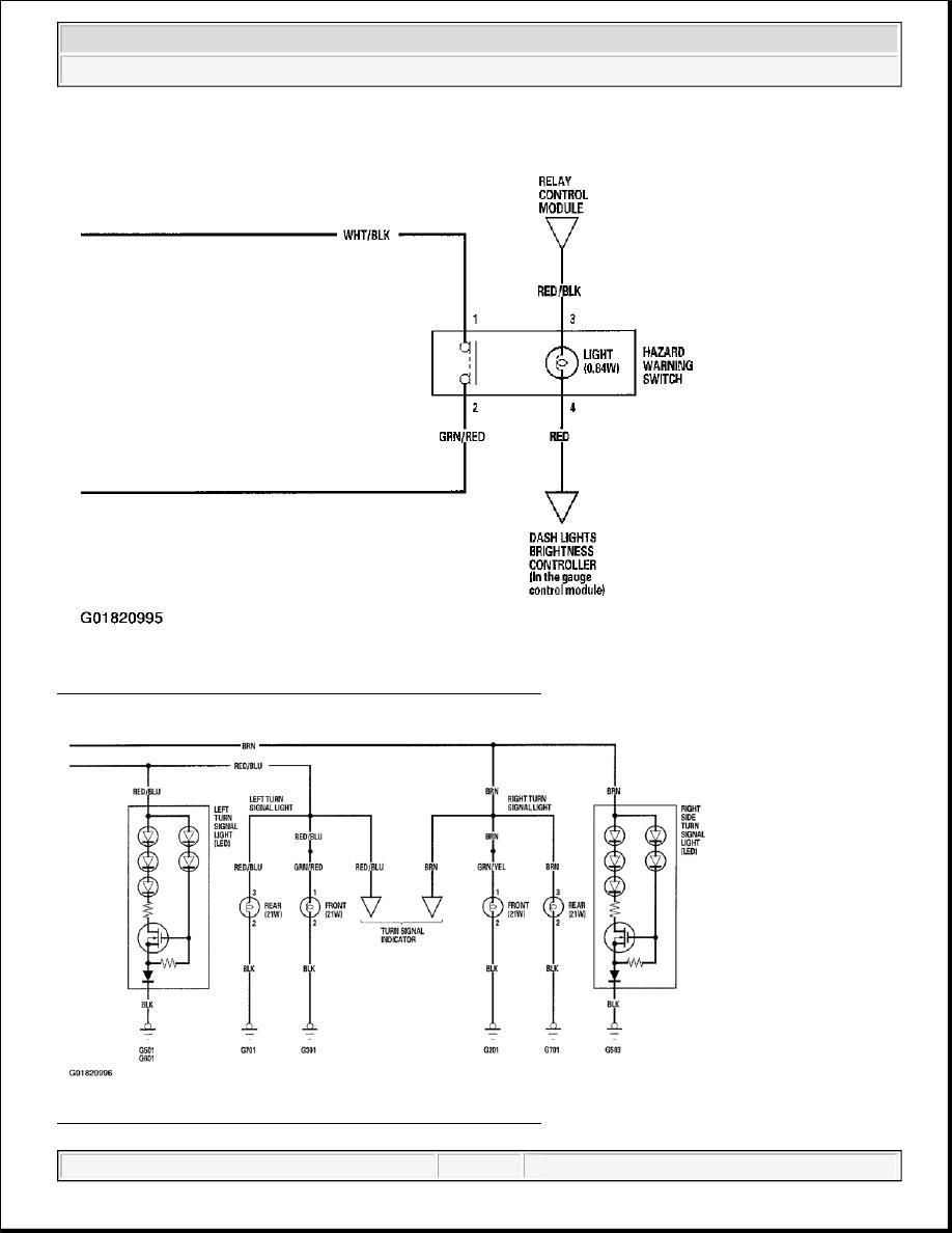 4: Turn Signal/Hazard Flasher Wiring Diagram (2 Of 3)