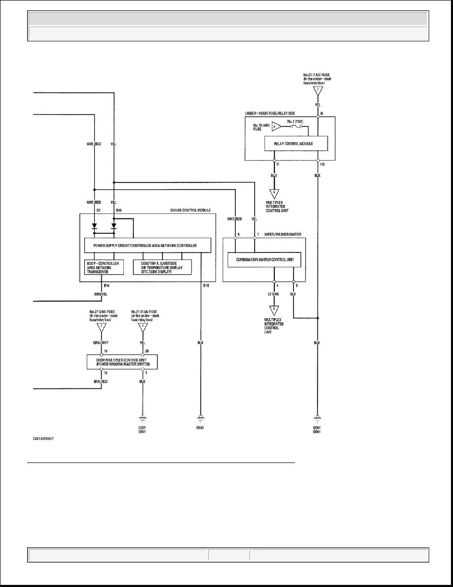 Acura TSX / Honda Accord CL. Manual - part 152 | Acura Multiplex Control Unit Wiring Diagram |  | Zinref.ru