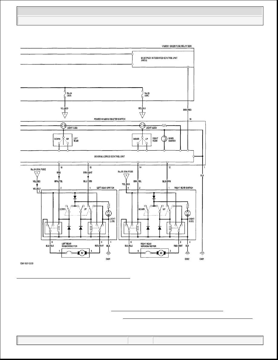 Acura TSX / Honda Accord CL. Manual - part 244   Acura Tsx Window Wiring Diagram      Zinref.ru