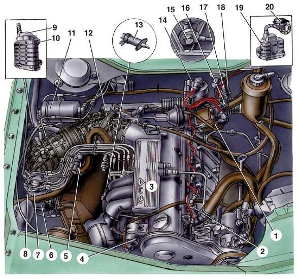 Схема двигателя audi 100 фото 90