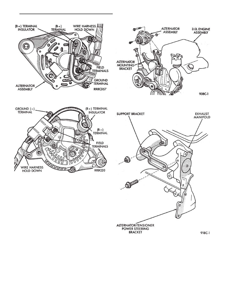 Chrysler Town Country Voyager Dodge Caravan Plymouth Detailed Power Steering Bracketry Installation Diagram And B Terminal Fig 5 Nut Must Be Removed Last To Prevent Damage Insulator