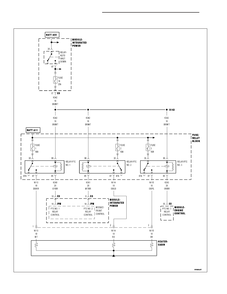 Chrysler 300 Touring 300c Dodge Magnum Manual Part 2294 Ptc Wiring Diagram