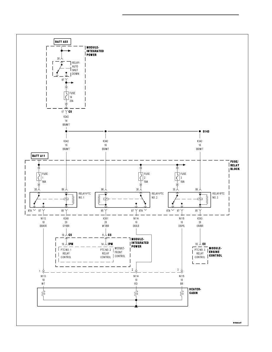 Chrysler 300 Touring 300c Dodge Magnum Manual Part 2294 Ptc Wiring Diagram