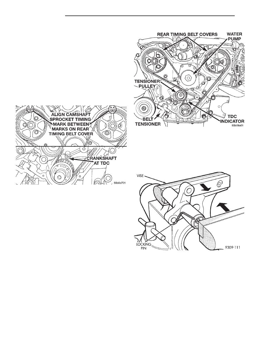 Chrysler New Yorker Manual Part 223 Timing Belt Book 8 Rotate Engine Clockwise Until Crankshaft Mark
