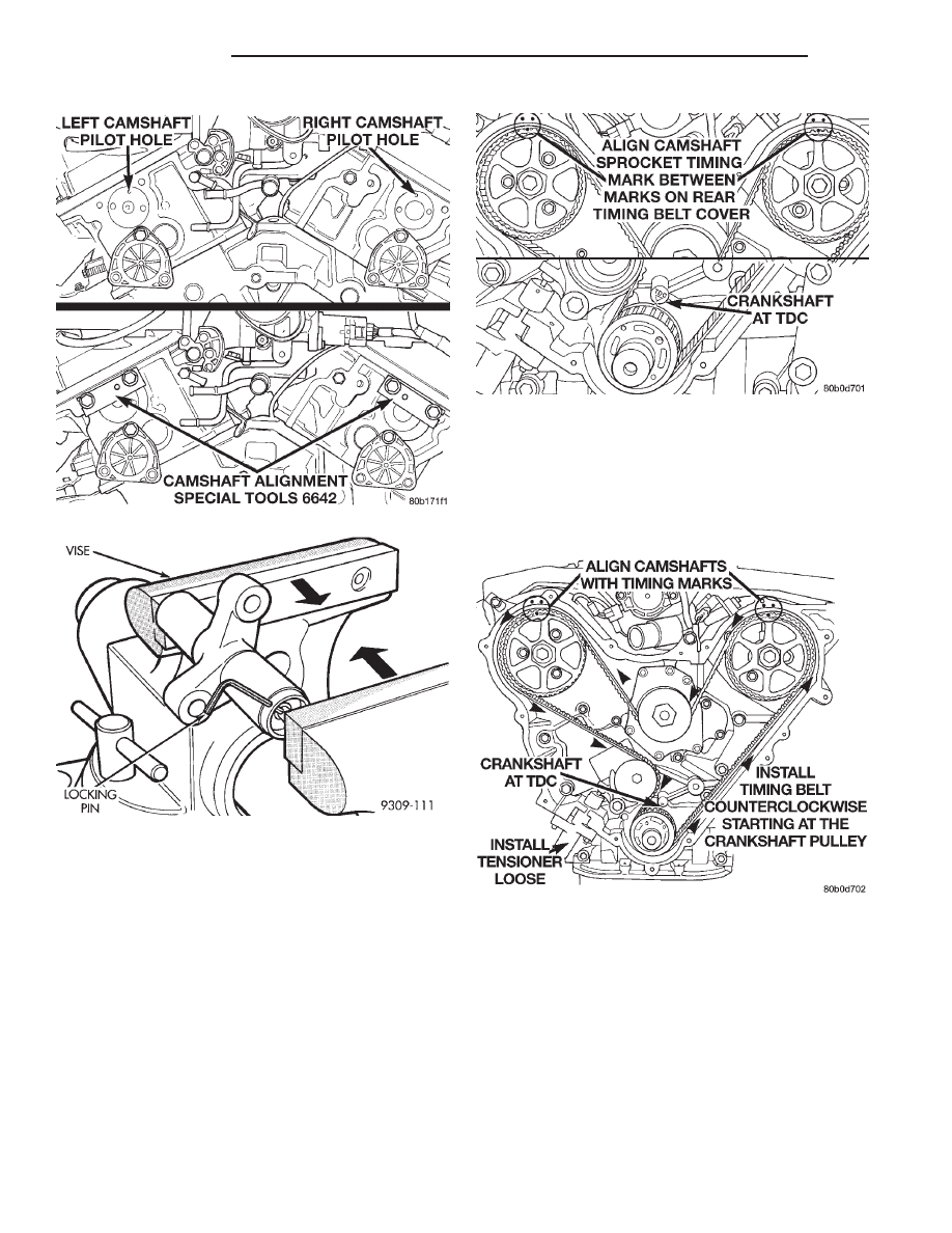Chrysler New Yorker Manual Part 238 Timing Belt Book Caution Compress The Tensioner Slowly As Dam Age To Could Result