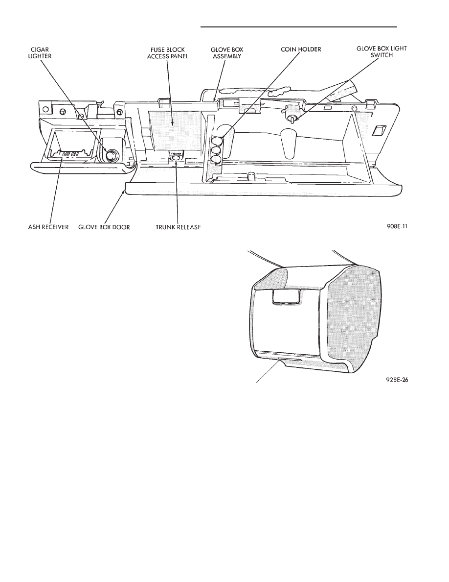 Plymouth Acclaim Fuse Box Start Building A Wiring Diagram Dodge Spirit Chrysler Le Baron Dynasty Manual Part 307 Rh Zinref Ru 1991
