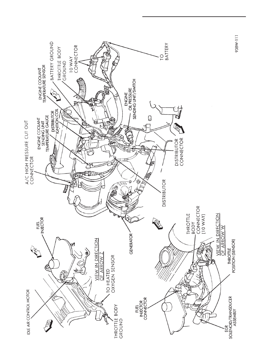 1991 Dodge Dynasty Wiring Diagram Library Chrysler Le Baron Plymouth Acclaim Manual Part 384 Sending Unit