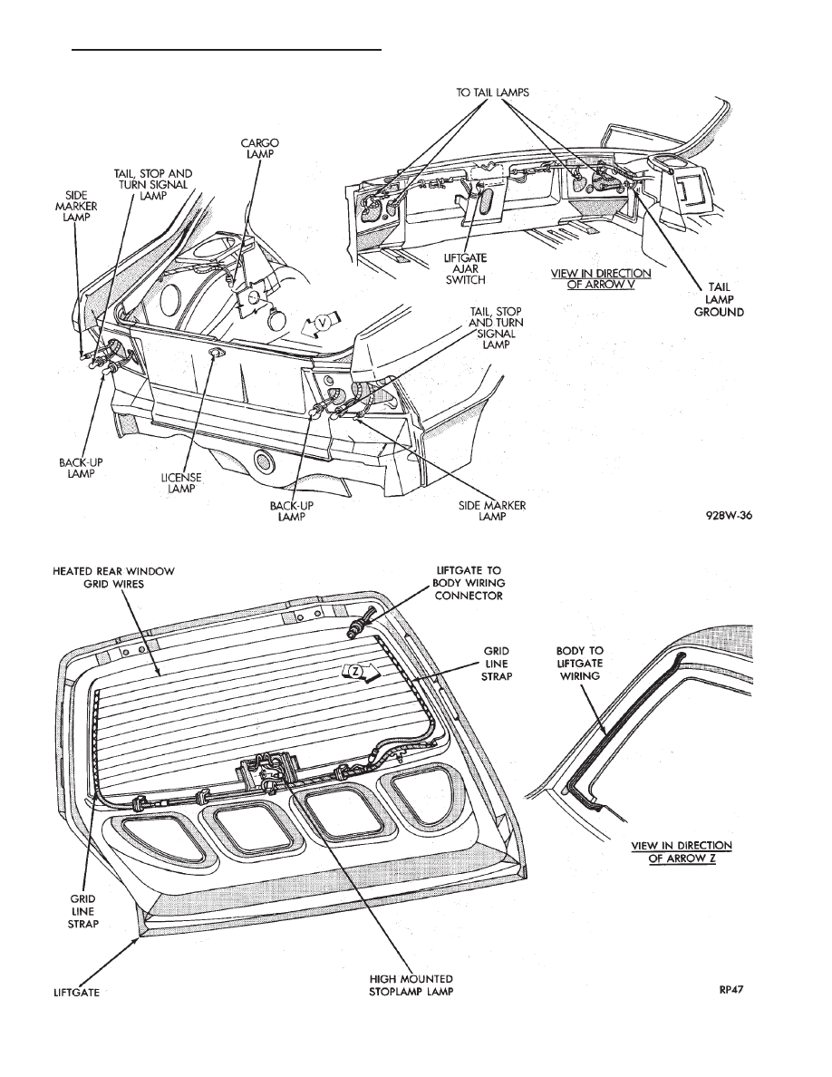 Chrysler Le Baron Dodge Dynasty Plymouth Acclaim Manual Part 385 Wiring 1 Rear End Ap Body