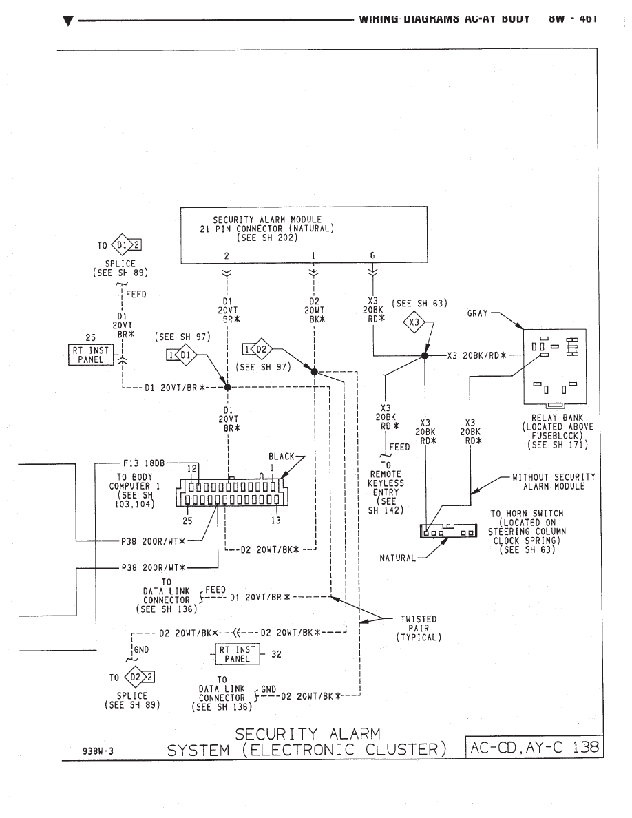 Chrysler Le Baron Dodge Dynasty Plymouth Acclaim Manual Part 476 Ac Wire Diagram Bank