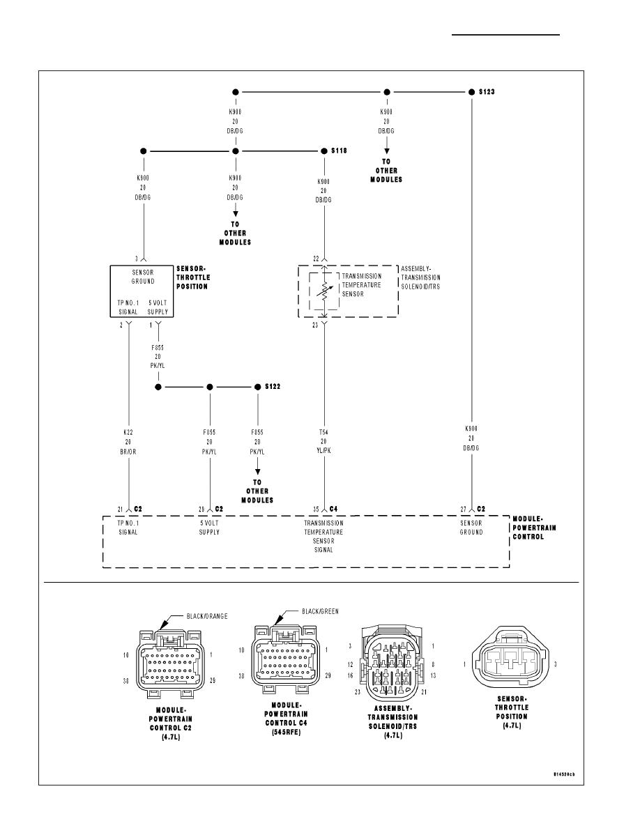 dodge dakota (nd) manual part 1012  545rfe transmission wiring diagram #2