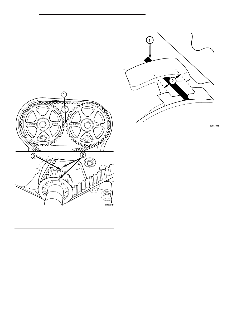 Dodge Neon Srt 4 Manual Part 267 Timing Belt Cover Note Repositioning The Crankshaft To Tdc Position Must Be Done Only During Clockwise Rotation Movement If Is Missed Rotate A Fur