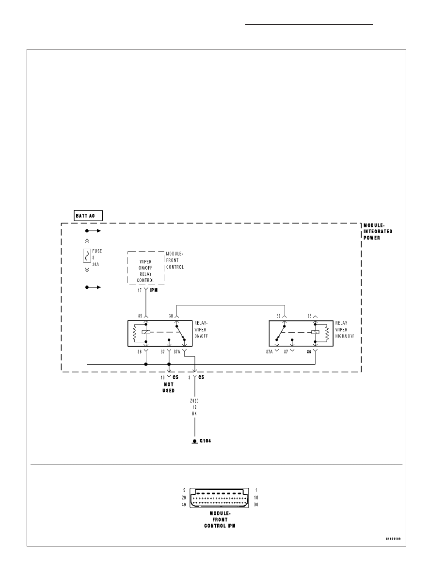 dodge ram truck 1500 2500 3500 manual part 594 Circuit Diagram Examples fcm wiper on off relay output circuit open