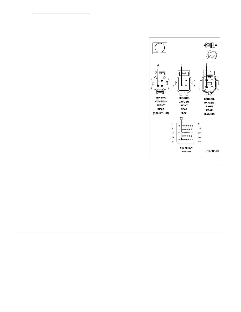 Dodge Ram Truck 1500 2500 3500 Manual Part 824 O2 Sensor Wiring Diagram P0158 2 Circuit High Continued