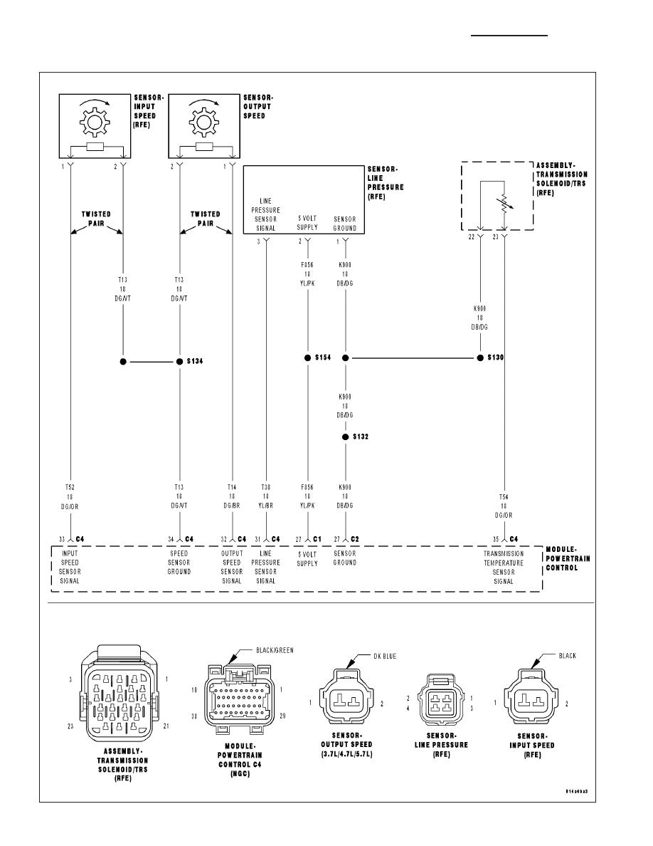 dodge ram truck 1500 2500 3500 manual part 1597 18 speed transmission diagram 545rfe transmission wiring diagram #4