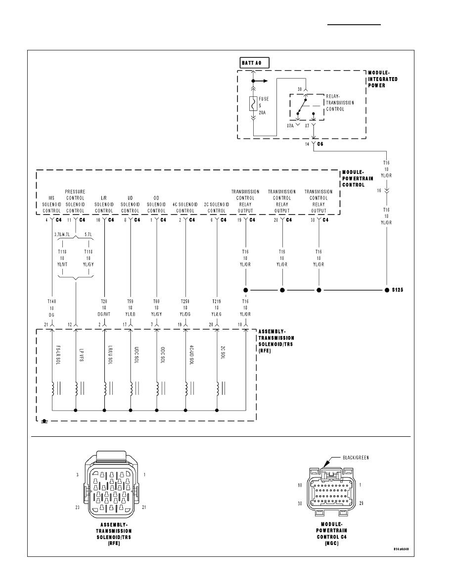 Dodge Ram Truck 1500 2500 3500 Manual Part 1610 45rfe Wiring Diagram P0750 Lr Solenoid Circuit