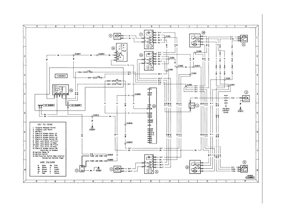 diagram 3a ancillary circuits wash wipe central locking and - wiring on  cat 315b,