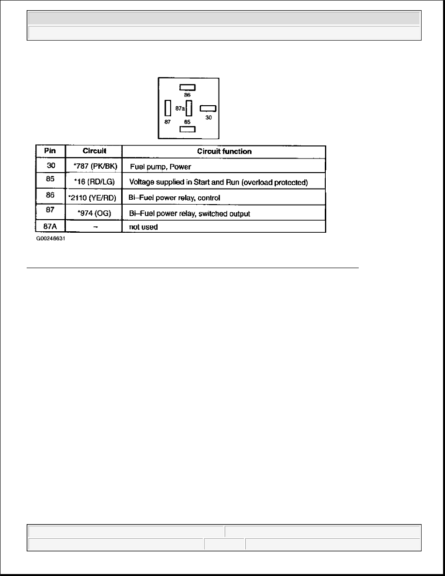 Ford F150 Pickup Instruction Part 1369 Relay 87a Function 5 Identifying Alternate Fuel Connector C1293 Terminals Circuit Functions Courtesy Of Motor Co