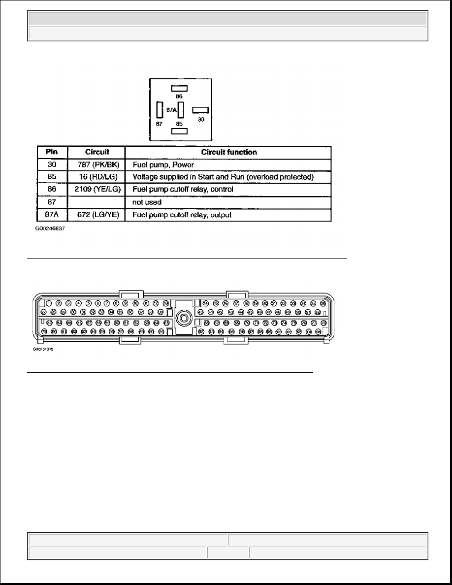 Ford F150 Pickup Instruction Part 1370 Relay 87a Function 11 Identifying Gasoline Connector C1218 Terminals Circuit Functions Courtesy Of Motor Co