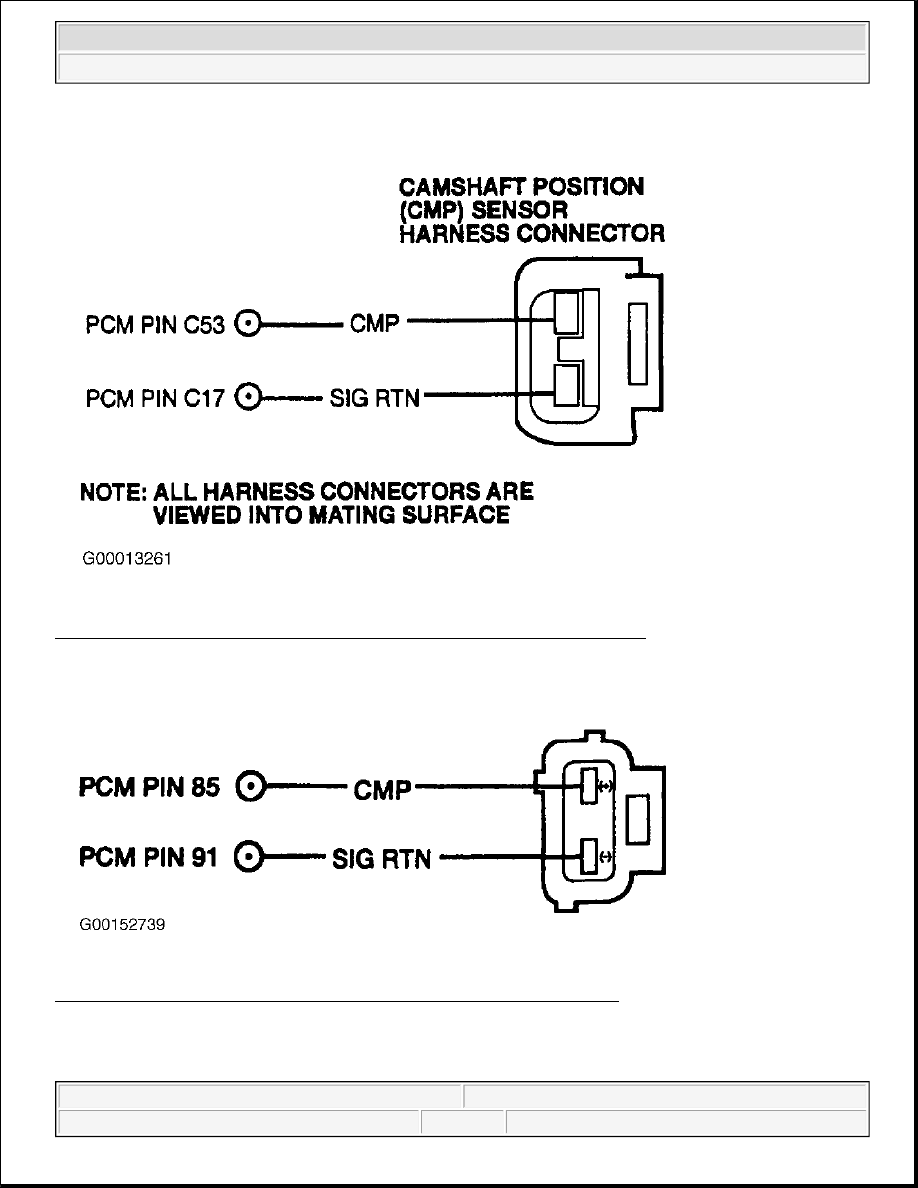 Ford F150 Pickup Instruction Part 1484 2wire Camshaft Position Sensor Diagram 208 Identifying Cmp Circuits Connector Terminals Ls 30l Courtesy Of Motor Co