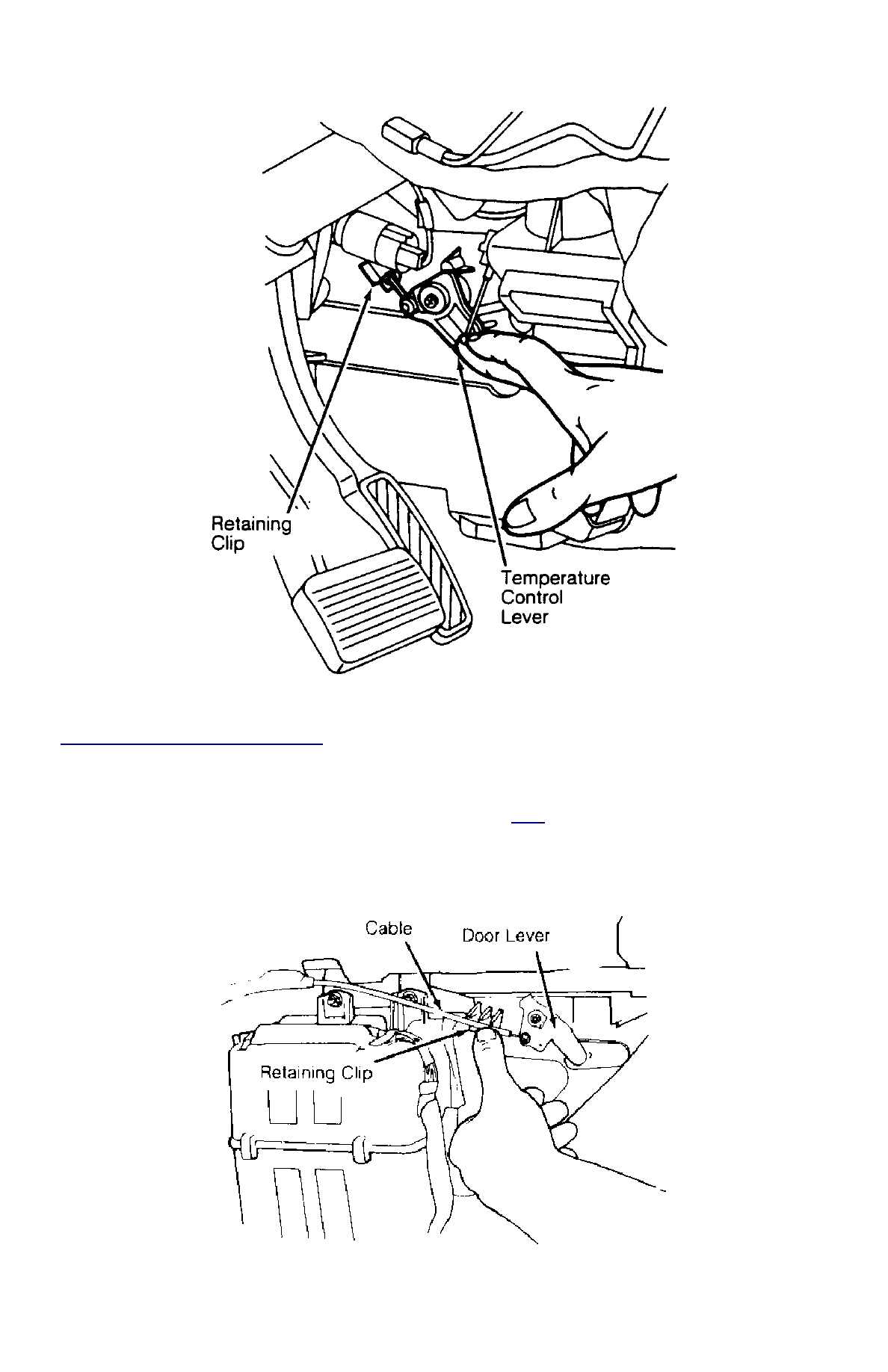 Ford Festiva Instruction Part 88 Wiring Diagram For 1988 Fig 4 Adjusting Temperature Control Cable