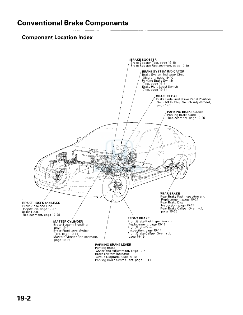 Honda Accord: Brake System Indicator
