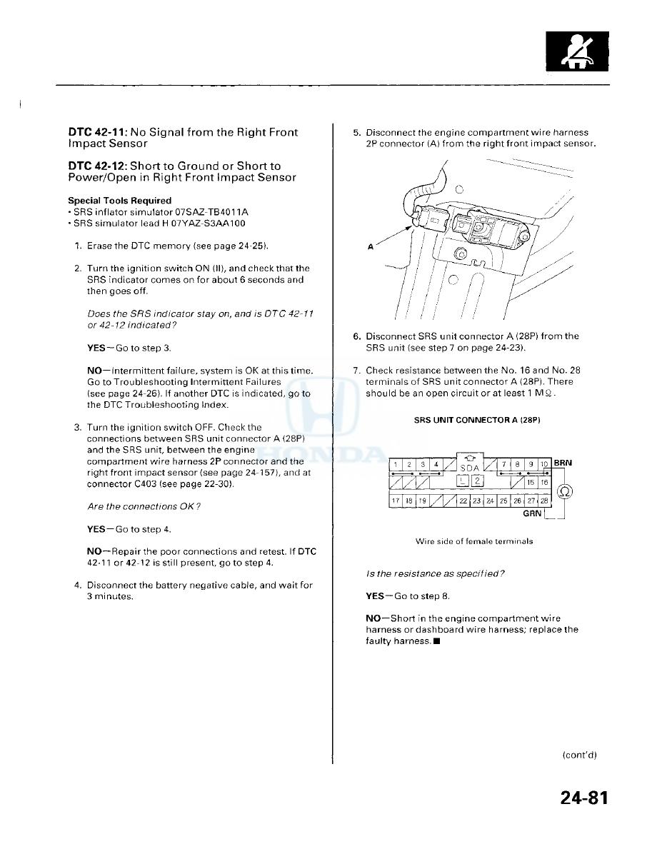 Honda Accord Hybrid Manual Part 540 01 Engine Wiring Harness Diagram