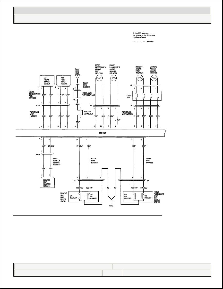 47: SRS - Circuit Diagram - 4-Door (06 Model) (2 Of 4) Courtesy of AMERICAN  HONDA MOTOR CO., INC.