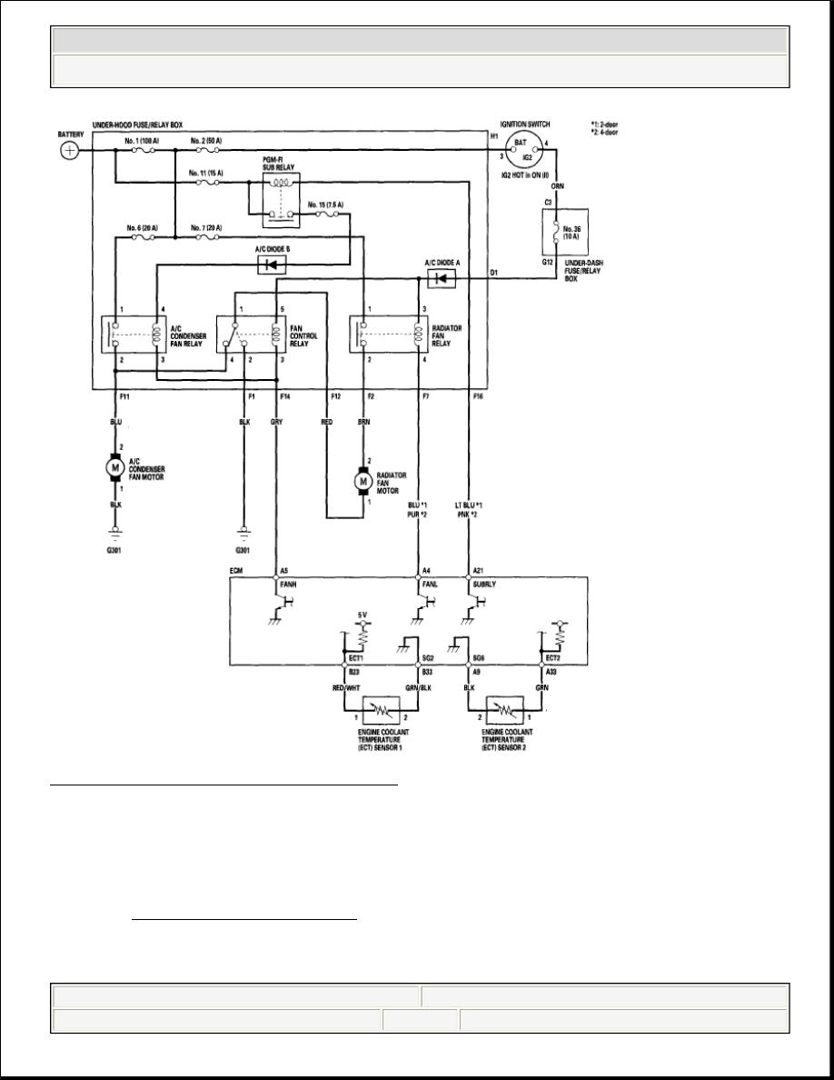 Honda Civic Manual Part 377 Fan Control Relay 2 Controls Circuit Diagram Courtesy Of American Motor Co Inc