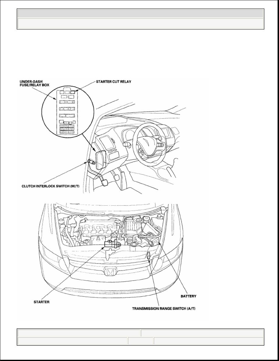 Honda Civic Manual Part 1050 2006 Starter 08 Engine