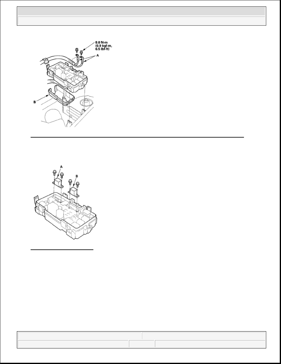 honda element manual part 705 Under Hood Fuse Box Diagram Battery Fuse Box