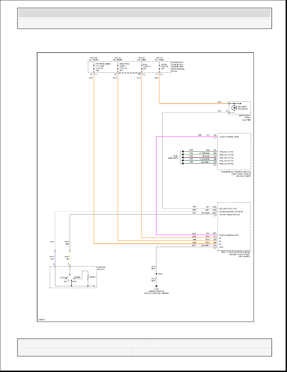 Hummer H3 Manual Part 657 Fuse Diagram 2006