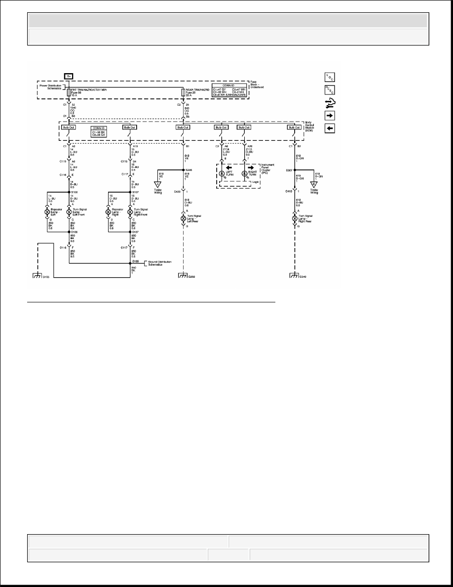 10: turn signal/hazard lamps schematic - export courtesy of general motors  corp  2007 hummer h3