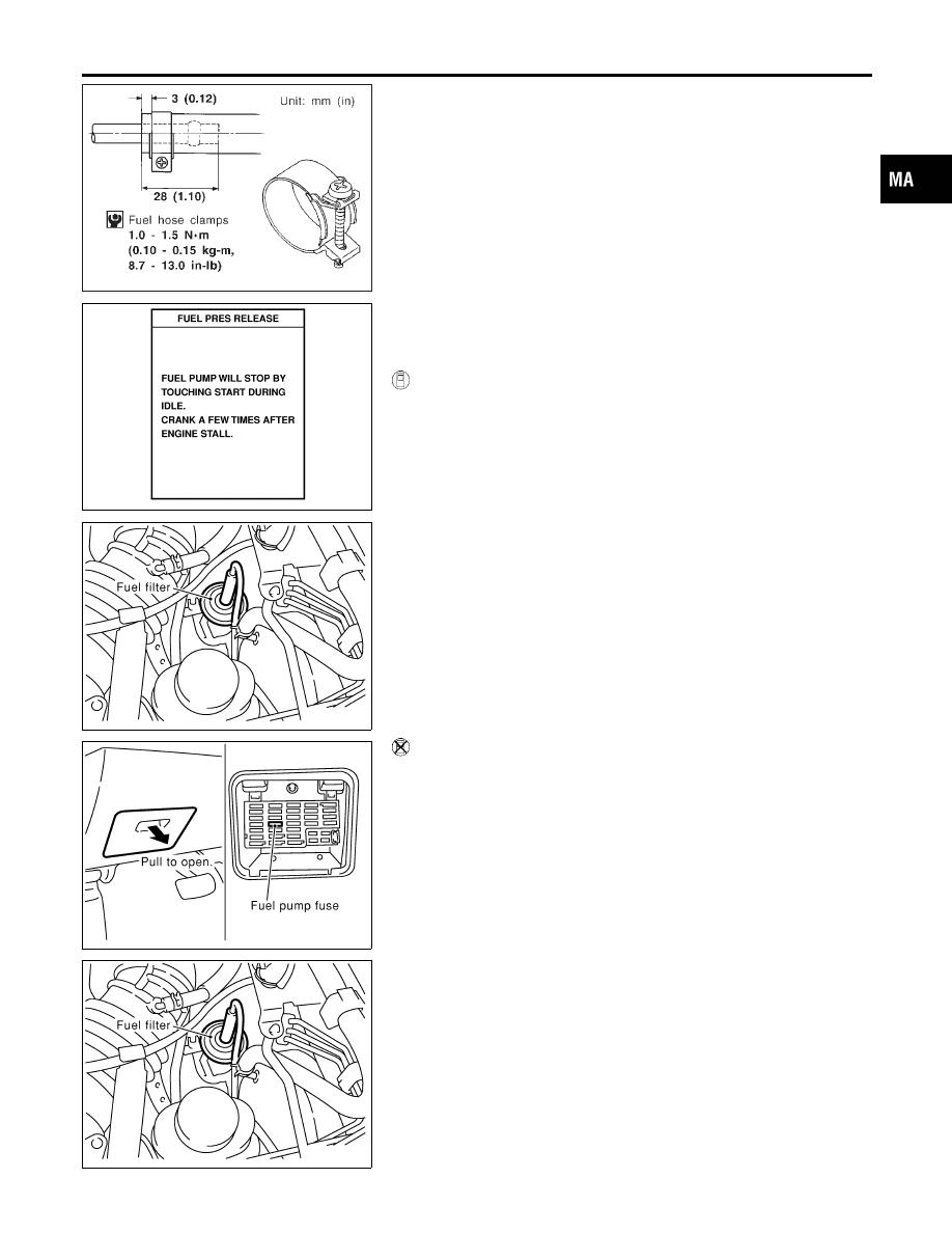 Infiniti G20 P11 Manual Part 480 7 3 Fuel Filter Assembly