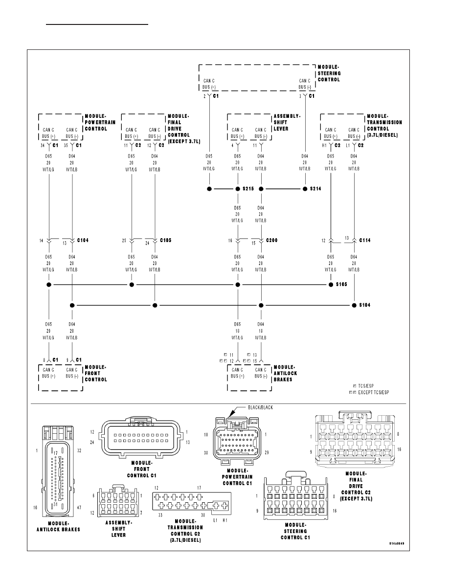 Jeep Grand Cherokee Wk Manual Part 194 Transmission Schematic U1502 Implausible Message Data Length Received From Tcm