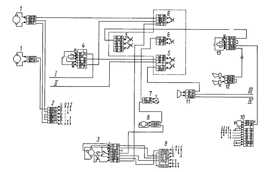 Электросхема камаз 5320 цветная