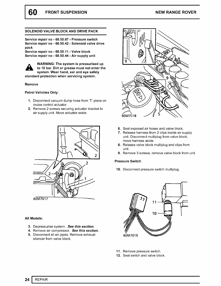 Range Rover Manual Part 385 Vacuum Diagram