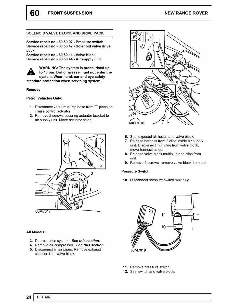 Range Rover Manual Part 385 Vacuum Diagram