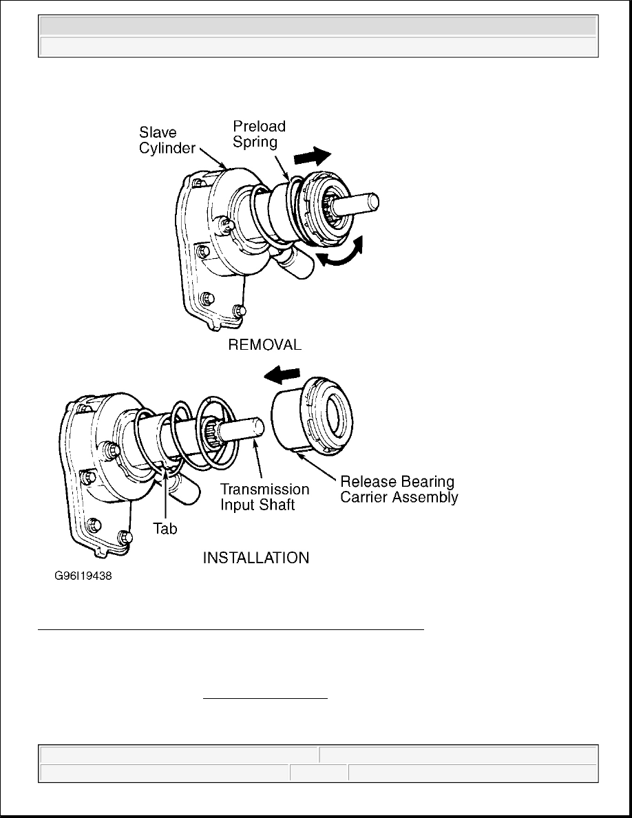 8: servicing clutch release bearing (b2300, b2500, b3000 & b4000) courtesy  of ford motor co