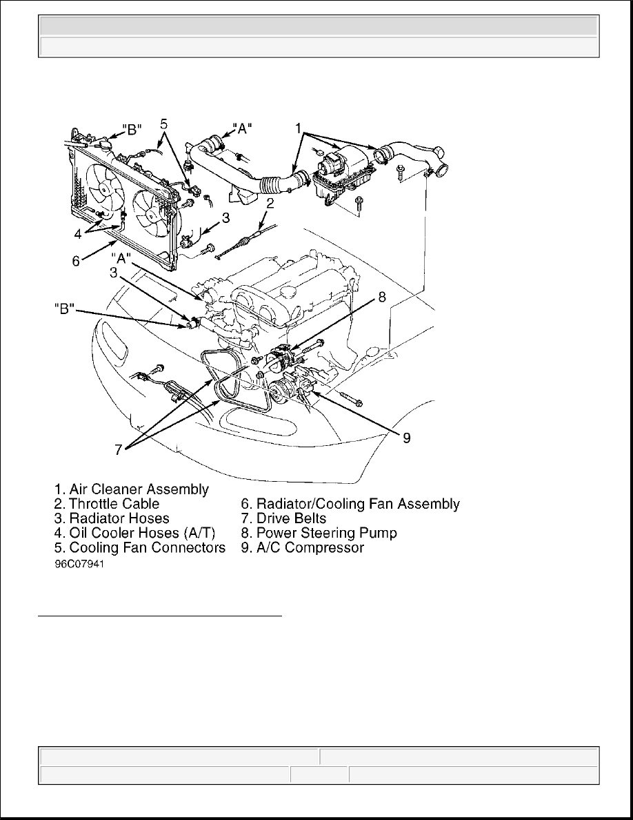 Mazda Mx 5 Miata 1997 Manual Part 53 3 Engine Diagram Removing Components Courtesy Of Motors Corp