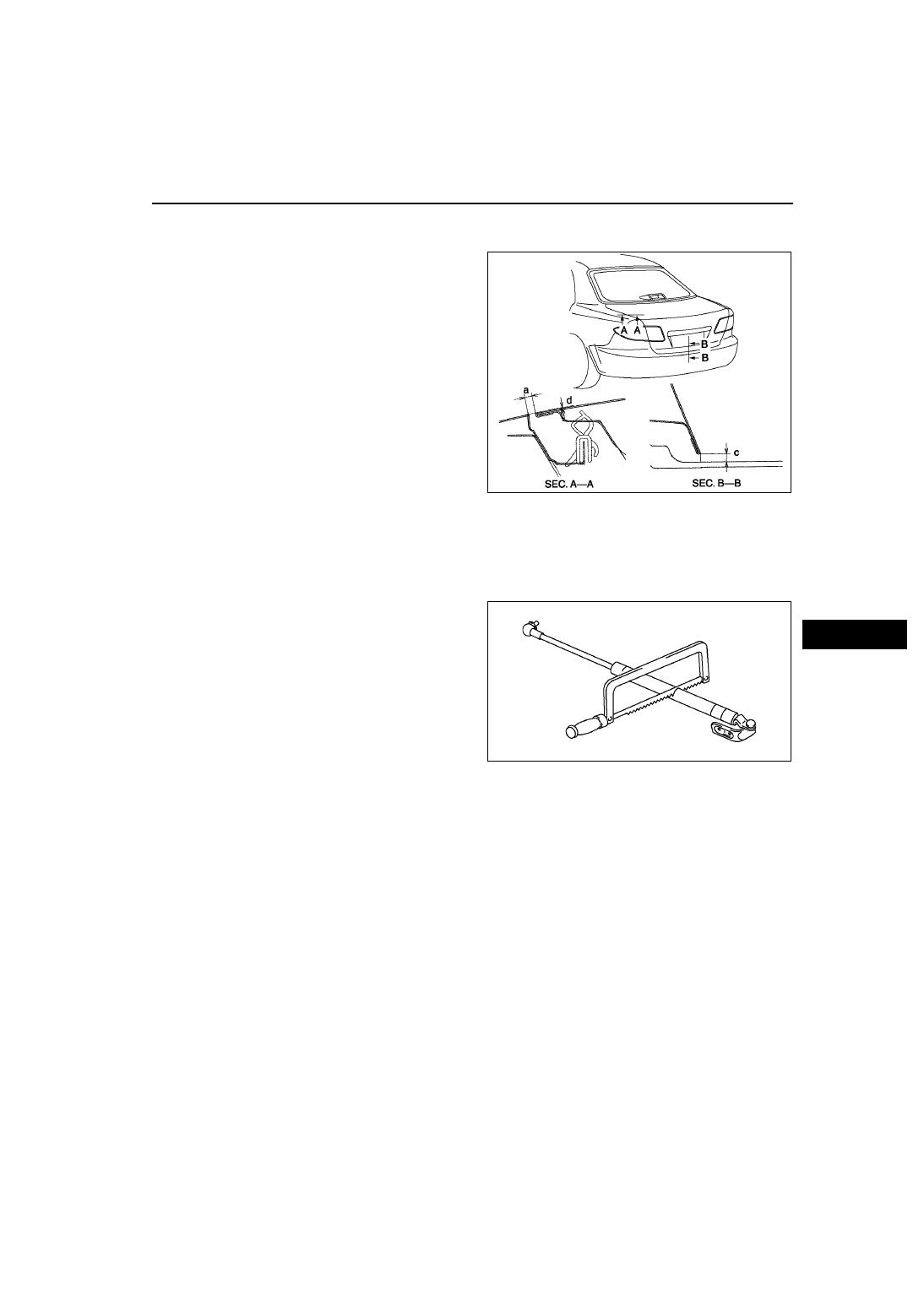 Mazda 3 Service Manual: Trunk Lid Stay Damper Disposal