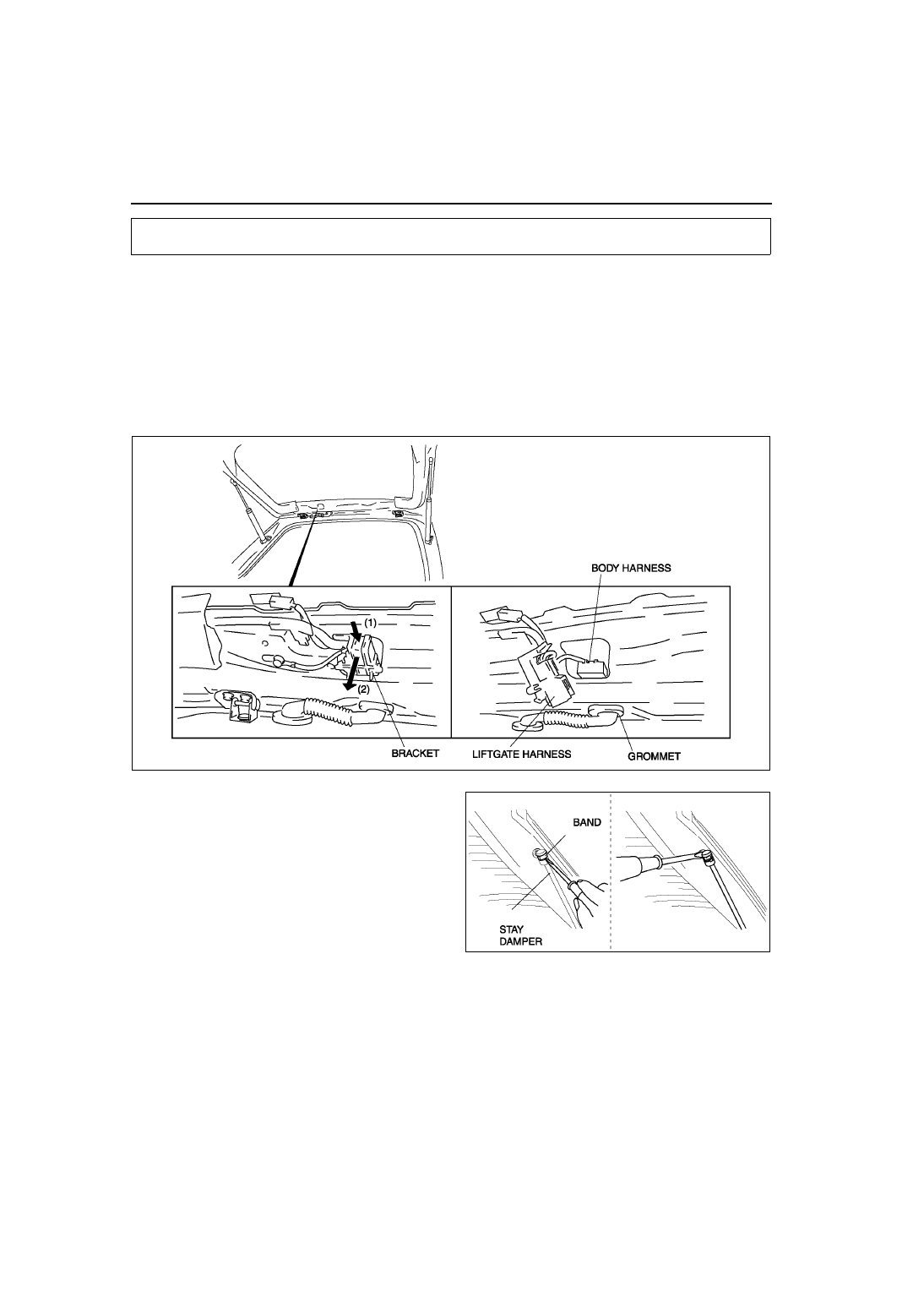 Mazda 3 Service Manual: Liftgate Latch And Lock Actuator RemovalInstallation