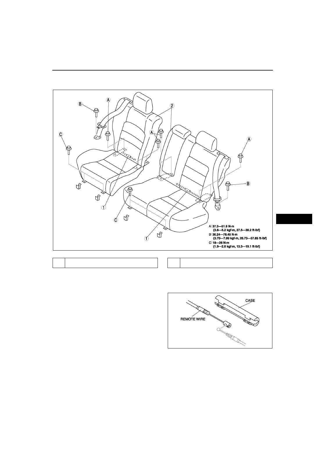 Mazda 3 Service Manual: Rear Seat Back Frame RemovalInstallation